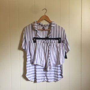 NWT Vince Camuto striped pajamas shorts set
